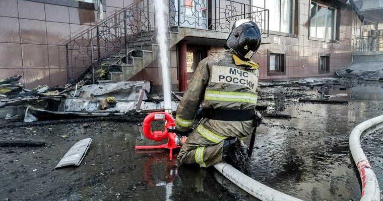 пожар на северо востоке Москвы
