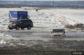 ЯНАО зимние дороги ледовая переправа