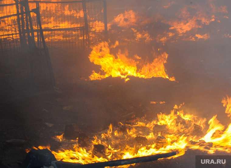 Челябинская область Копейск Вахрушево пожар МЧС храм