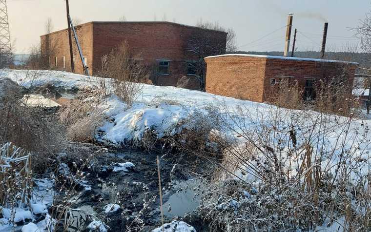 В окрестностях Екатеринбурга фекалии сливают в реку. Фото, видео