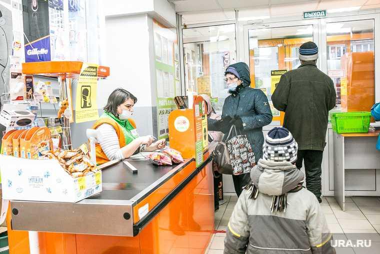 Меры безопасности, от короновируса, в магазинах Пятерочка и Монетка. Тюмень