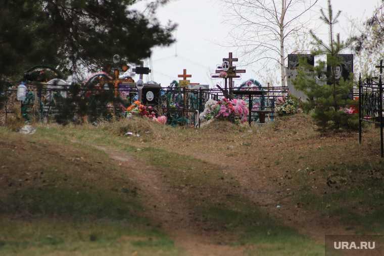 вандал на кладбище Курган